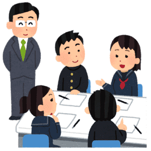 学校の先生と生徒